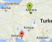 Ankara elvankentten Antalya Manavgat'a evdeneve taşıma