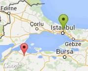 istanbul-kağıthane den , çanakkale-bigaya
