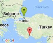 İstanbul antalya arası
