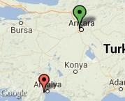 Ankara'dan, Antalya'ya kısmi ev eşyası taşınması.