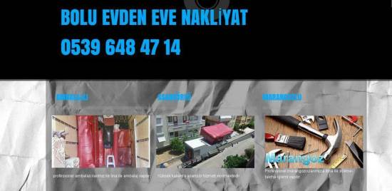 Bolu Hanedan Evden Eve Nakliyat 05396484714