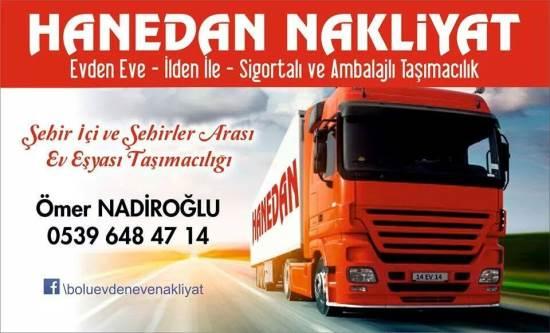 Bolu Hanedan Nakliyat 05396484714