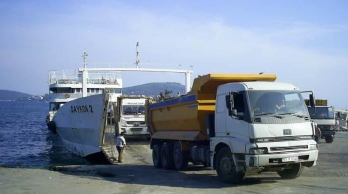 Adalara eşya taşıma