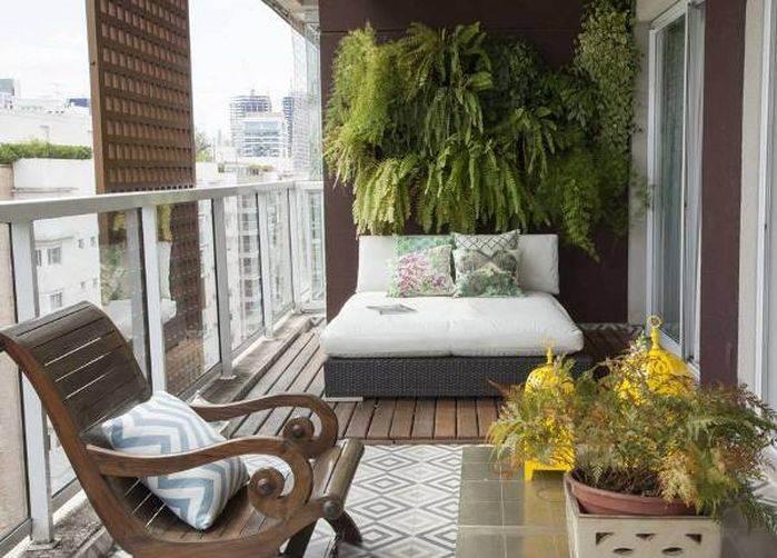 Balkonu dinlenme alanına çevirin