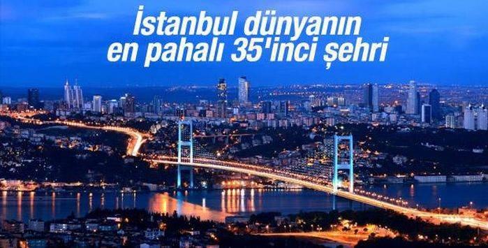 İstanbul en pahalı 35. şehir