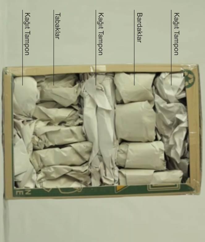 Tabak ve bardaklar nasıl paketlenir